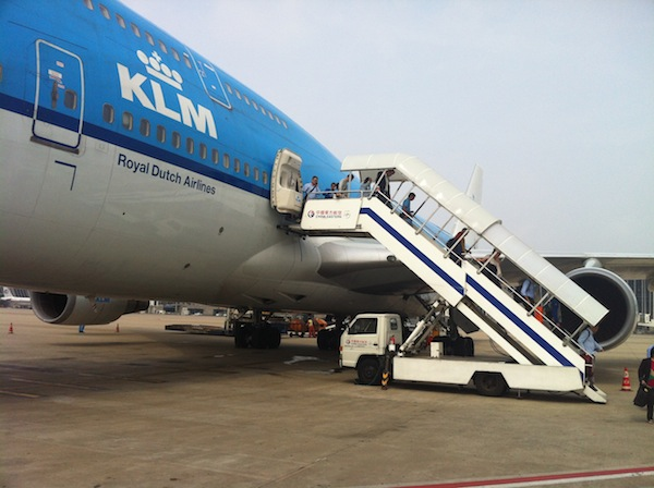 747 - arrival with KLM