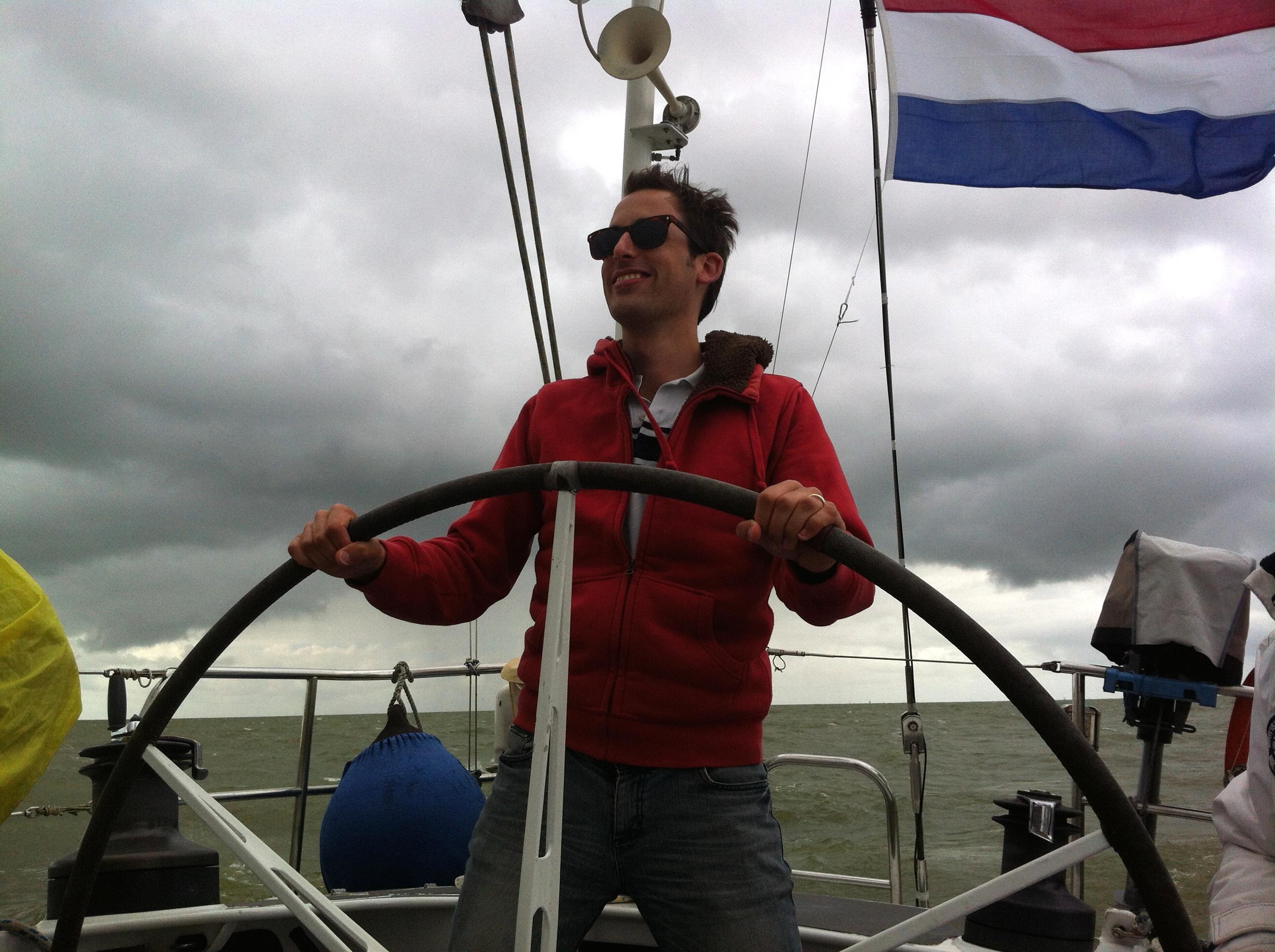 Joop Dorresteijn sailing