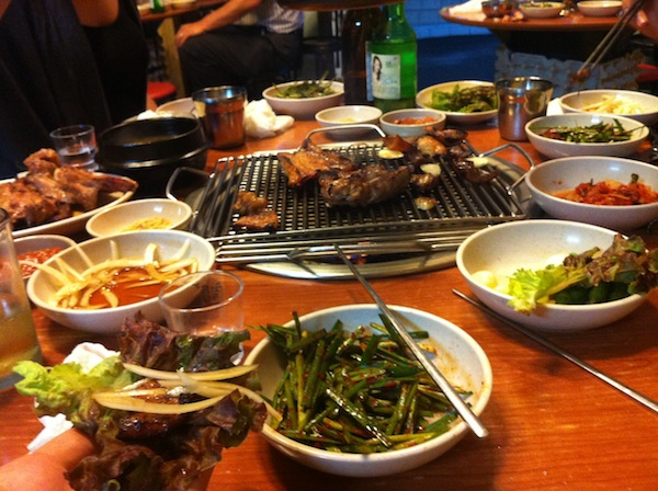 Compulsary Korean barbeque on the last night